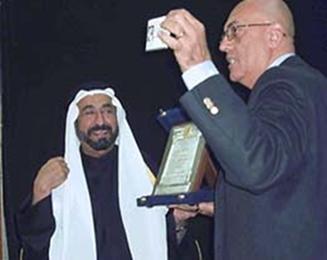 منح اتحاد الكتاب المصريين العضوية الفخرية لصاحب السمو الشيخ الدكتور سلطان بن محمد القاسمي