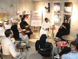 جلسة حوارية مع الكاتبة الإماراتية صالحة عبيد