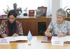 الشيخة بدور القاسمي توقع مذكرة تفاهم مع إيرينا بوكوفا - «اليونيسكو» تدعم اختيار الشارقة عاصمة عالمية للكتاب 2019