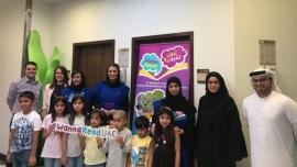 """فريق من """"أبوظبي للإعلام"""" يشارك في فعالية القراءة المجتمعية """"اقرأ لي"""" بمستشفى """"هيلث بوينت"""""""