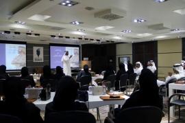 """جامعة حمدان بن محمد الذكية تنظم محاضرة حول كتاب """"تأملات في السعادة والايجابية"""""""