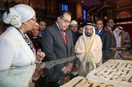 حاكم الشارقة بحضور رئيس الوزراء المصري يفتتح دار الكتب المصرية بعد ترميمه